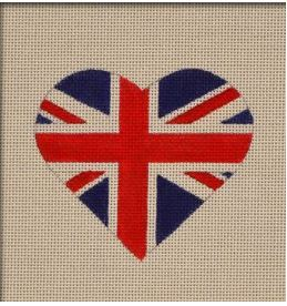 click here to view larger image of British Flag Heart (hand painted canvases)