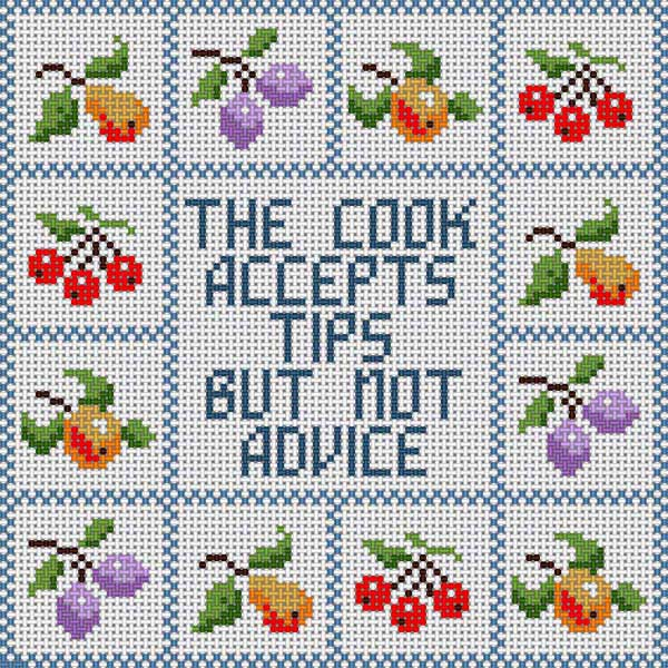 click here to view larger image of Cook Accepts Tips (hand painted canvases)