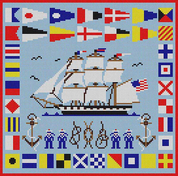 click here to view larger image of Nautical Sampler (hand painted canvases)