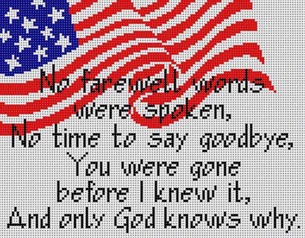 click here to view larger image of No Farewell Words (hand painted canvases)
