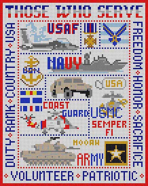 click here to view larger image of Those Who Serve (hand painted canvases)
