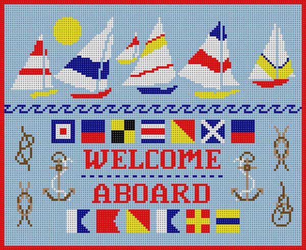 click here to view larger image of Welcome Aboard (hand painted canvases)