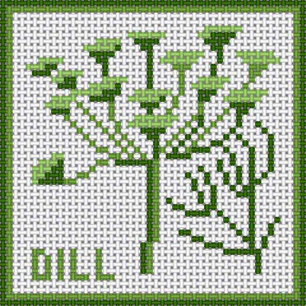 click here to view larger image of Dill (hand painted canvases)