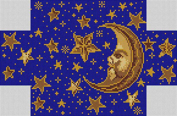 click here to view larger image of Moon and Stars Brick Cover (hand painted canvases)
