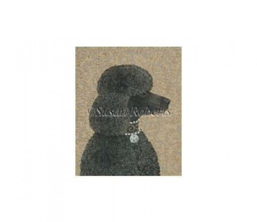 click here to view larger image of Black Poodle - 13ct (hand painted canvases)