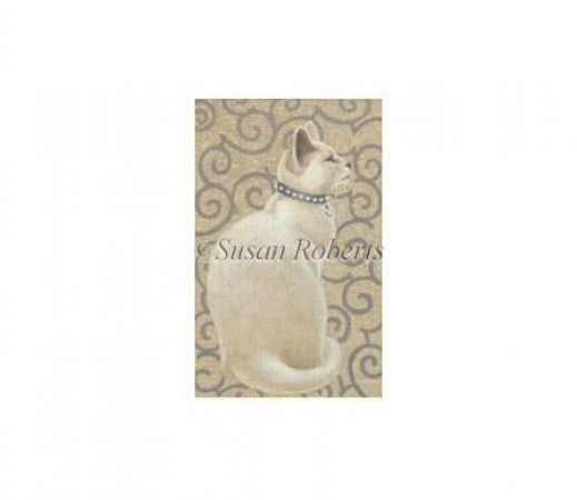 click here to view larger image of White Cat - 18ct (hand painted canvases)