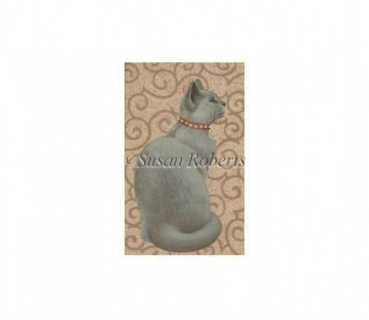 click here to view larger image of Grey Cat - 18ct (hand painted canvases)