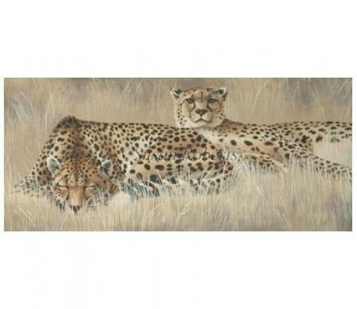 click here to view larger image of Cheetah Pair (hand painted canvases)