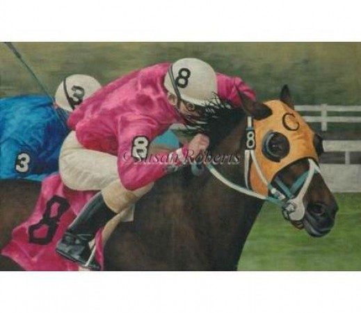 click here to view larger image of Horse Race - 18ct (hand painted canvases)