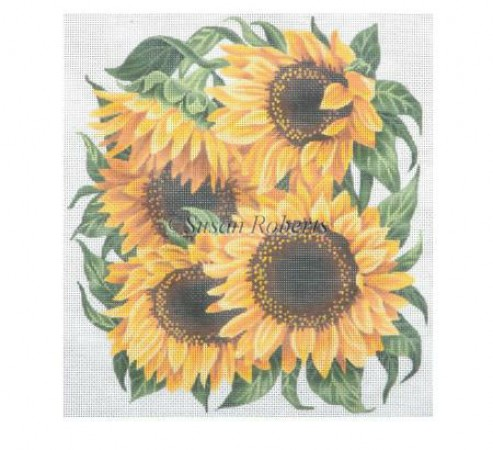 click here to view larger image of Sunny Sunflower - 10ct (hand painted canvases)