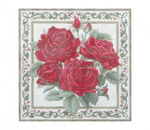 click here to view larger image of Roses (hand painted canvases)