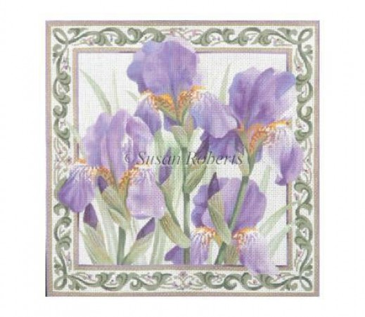 click here to view larger image of Purple Iris - 10ct (hand painted canvases)