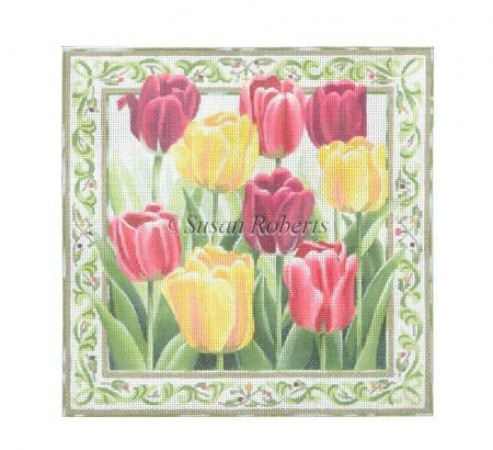 click here to view larger image of Tulips Garden - 13ct (hand painted canvases)