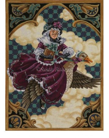 click here to view larger image of Mother Goose - 13ct (hand painted canvases)