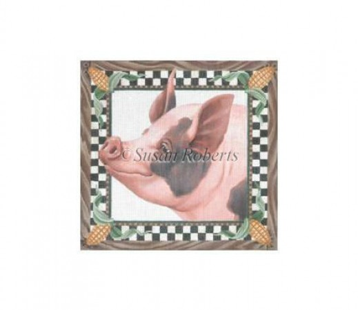 click here to view larger image of Pig In Corn (hand painted canvases)