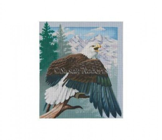 click here to view larger image of Perched Eagle (hand painted canvases)
