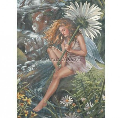 click here to view larger image of Fairy By The Stream (hand painted canvases)