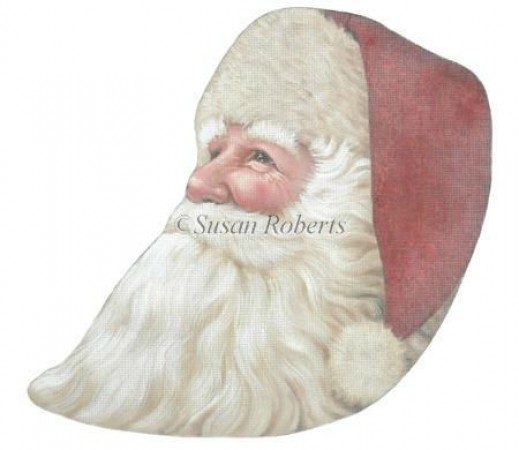 click here to view larger image of Santa Head (hand painted canvases)