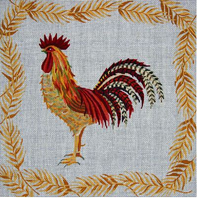 click here to view larger image of Red and Gold Rooster (hand painted canvases)