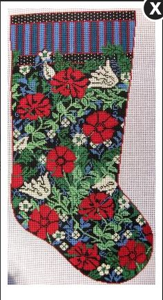 click here to view larger image of Auntie O's Stocking - WM Compton - 13ct (hand painted canvases)