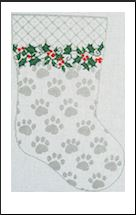 click here to view larger image of My Best Friend's Stocking - Silver (hand painted canvases)