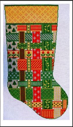 click here to view larger image of Joan's Stocking - 13ct (hand painted canvases)