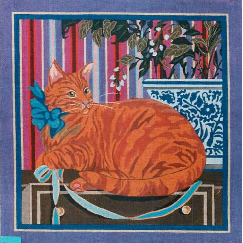 click here to view larger image of Orange Cat (hand painted canvases)