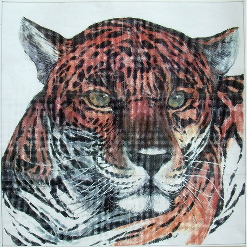 click here to view larger image of Leopard Jungle Head (hand painted canvases)