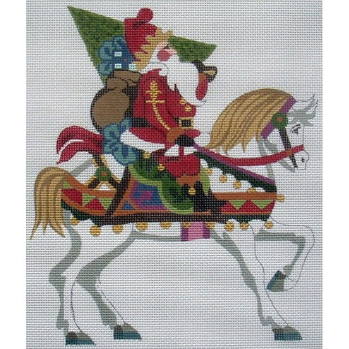 click here to view larger image of Santa On A Horse (hand painted canvases)