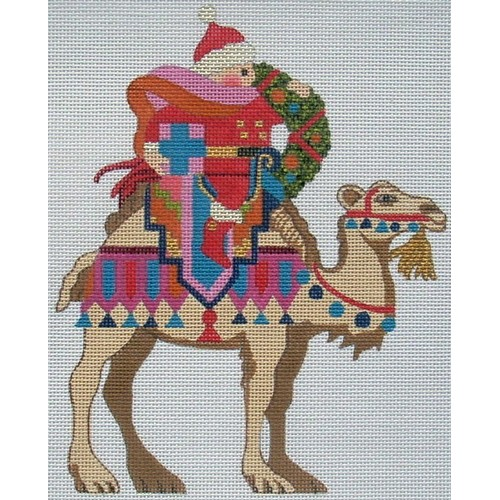 click here to view larger image of Christmas Camel (hand painted canvases)