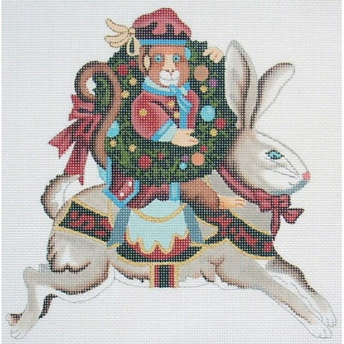 click here to view larger image of Rabbit With Monkey (hand painted canvases)