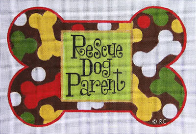 click here to view larger image of Rescue Dog Parent (hand painted canvases)