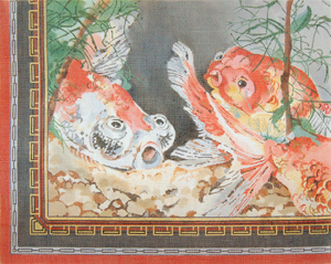 click here to view larger image of Koi Fishpond (hand painted canvases)