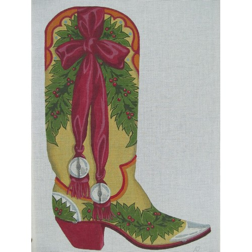 click here to view larger image of Christmas Boot - 13ct (hand painted canvases)