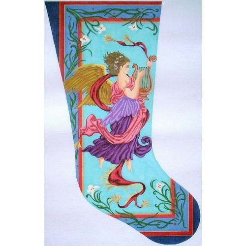 click here to view larger image of Art Nouveau Angel Stocking - 18ct (hand painted canvases)