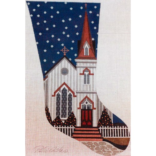 click here to view larger image of Gothic Church Stocking - 13ct (hand painted canvases)