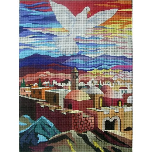 click here to view larger image of Year of the Dove (hand painted canvases)