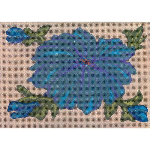 click here to view larger image of Blue Flower (hand painted canvases)