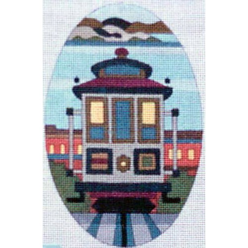 click here to view larger image of Hyde Street - Oval Cable Car (hand painted canvases)