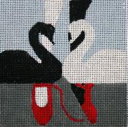 click here to view larger image of The Black Swan - Movie Coaster (hand painted canvases)