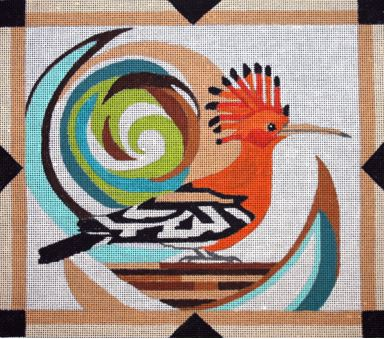 click here to view larger image of African Hoopoe (hand painted canvases)