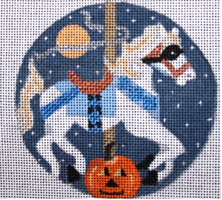 click here to view larger image of Halloween Carousel Horse (hand painted canvases)