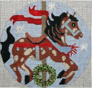 click here to view larger image of Christmas Carousel Horse (hand painted canvases)