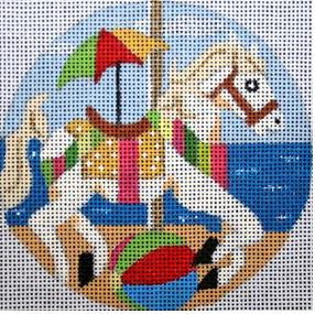 click here to view larger image of Summer Vacation Carousel Horse (hand painted canvases)