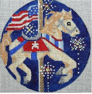 click here to view larger image of Fourth of July Carousel Horse (hand painted canvases)