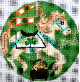 click here to view larger image of Saint Patrick's Day Carousel Horse (hand painted canvases)