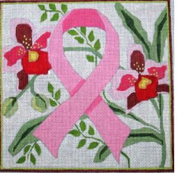 click here to view larger image of Pink Ribbon (hand painted canvases)