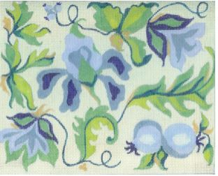 click here to view larger image of Blue Floral 1 (hand painted canvases)