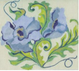 click here to view larger image of Blue Floral 2 (hand painted canvases)