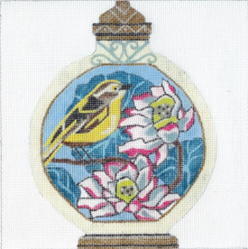 click here to view larger image of Bird With Lotus - Snuff Bottle 6 (hand painted canvases)